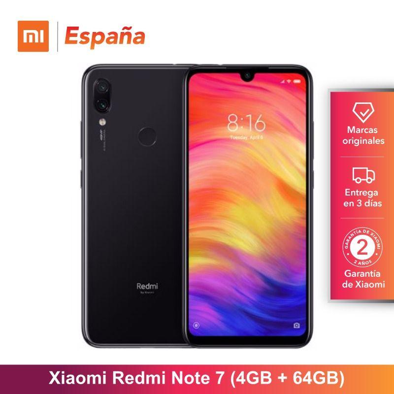 Global Version for Spain] Xiaomi Redmi Note 7 (Memoria interna de 64GB, RAM de 4GB,Camara dual trasera de 48 MP) Móvil