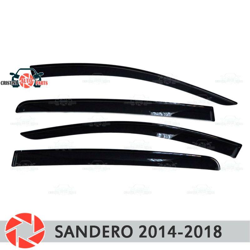 Fenster deflektor für Renault Sandero 2014-2018 regen deflektor schmutz schutz auto styling dekoration zubehör molding