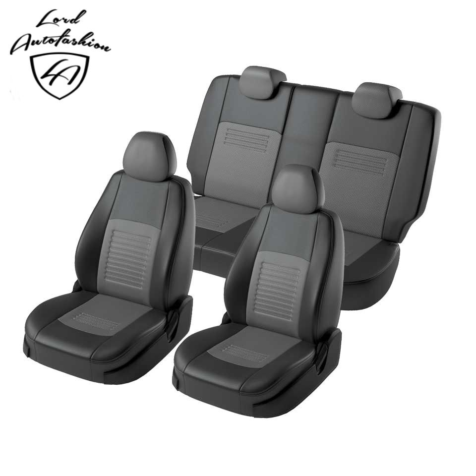 Für Volkswagen Polo Limousine 2009-2019 spezielle sitzbezüge mit separaten zurück sitze 60/40 Turin eco-leder
