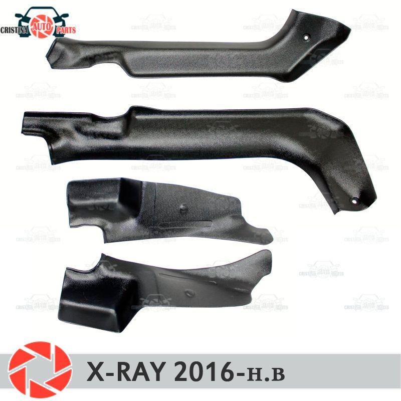 Tür sill trim teppich für Lada X-Ray 2016-innere sill schritt platte trim schutz teppich zubehör auto styling dekoration