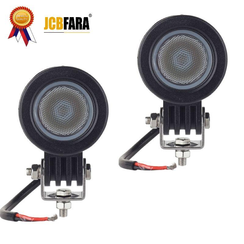 2 pièces 10 W 12 V LED lumière de travail CREE puce 2 pouces voiture Auto SUV ATV 4WD 4X4 Offroad LED feu de brouillard lumière moto camion phare