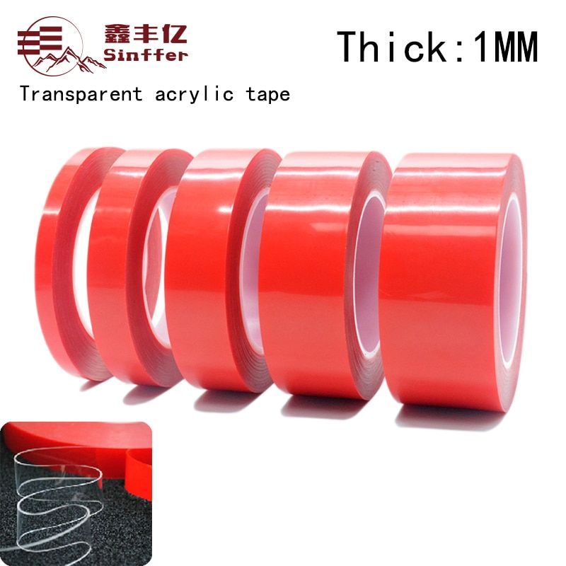 3M(1mm Thick) Super Strong Double-sided Transparent Clear Acrylic Foam Adhesive VHB Tape Multi-role Tape Super sticky
