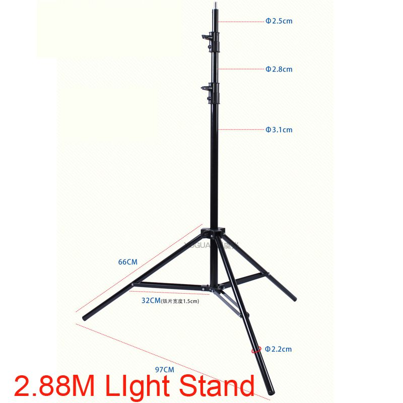 280cm Flash Light Stand 1/4 Screw Head Tripod Ajustable Photo Studio Accessories for HTC VIVE Ring Light Softbox Lamp Support
