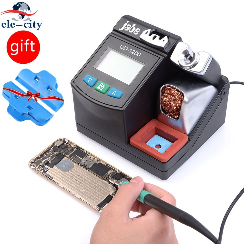 New ud-1200 Lead Free Solde-ring Station Adjustable Temperature Electric Weld-ing jointing Heat Pencil Smart 2.5S Rapid Heating