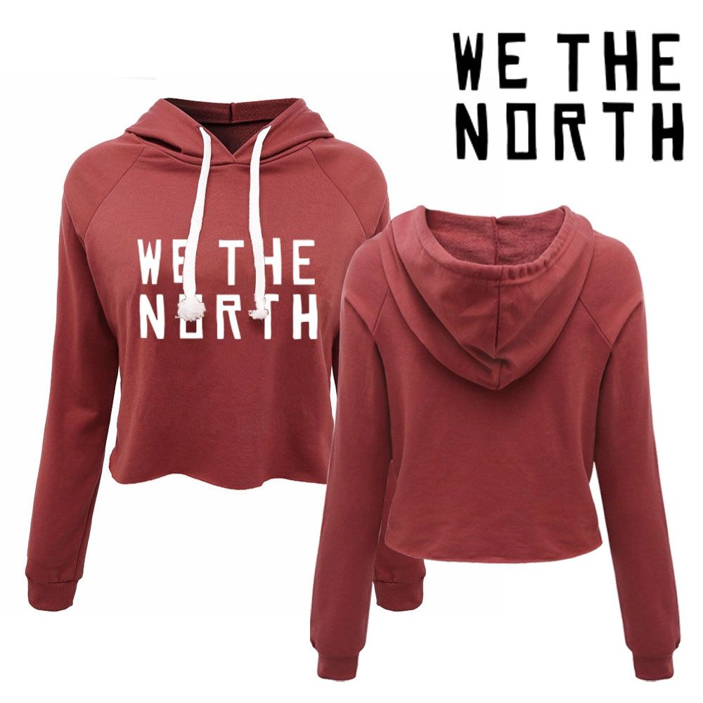 We the North Toronto Women's canada pullovers . 80s 90s 00s girls fashion sexy cropped hoodies
