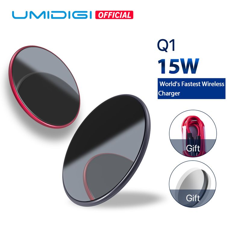 UMIDIGI Q1 15W Wireless fastest Charger for Samsung Galaxy S9 S8 S7 Wireless Charger for iPhone 8/X/8 Plus Wireless Charging Pad