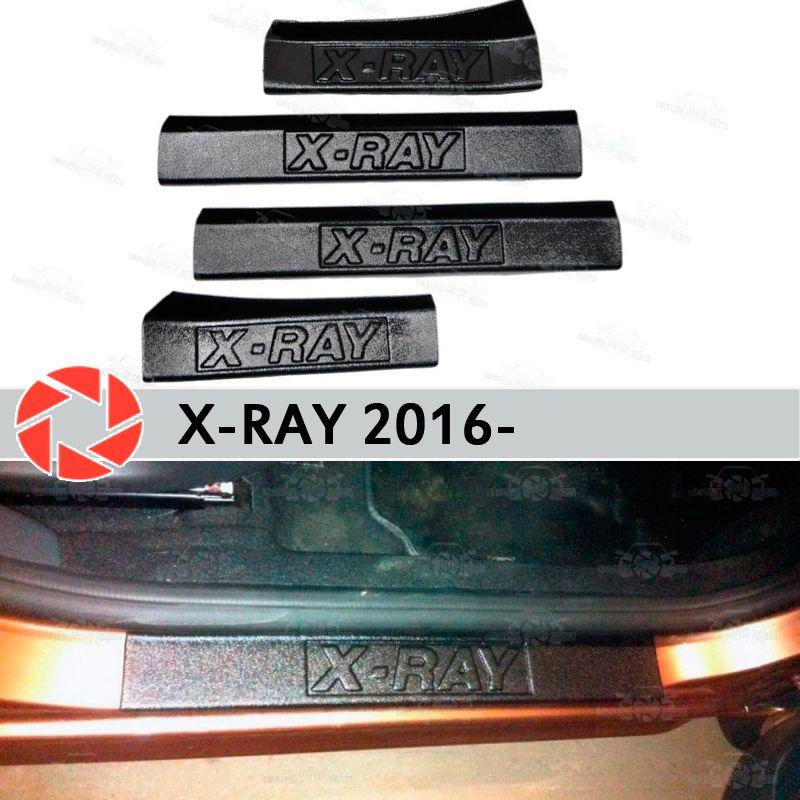 Einstiegsleisten für Lada X-Ray 2016-kunststoff ABS schritt platte inneren trim zubehör schutz scuff auto styling dekoration
