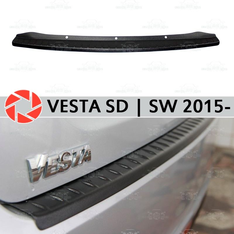 Für Lada Vesta SD   SW 2015-schutz schutz platte auf heckschürze sill auto styling dekoration scuff panel zubehör