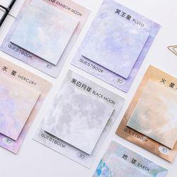 30 unids/caja lindo Kawaii estrella de papel Memo Pad planeta espacio puesto que las notas para estudiantes regalo escuela Oficina papelería supplie