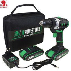 25 V outils électriques Perceuse électrique Perceuse sans fil Électrique Tournevis Mini Perceuse électrique de forage électrique tournevis UE plug