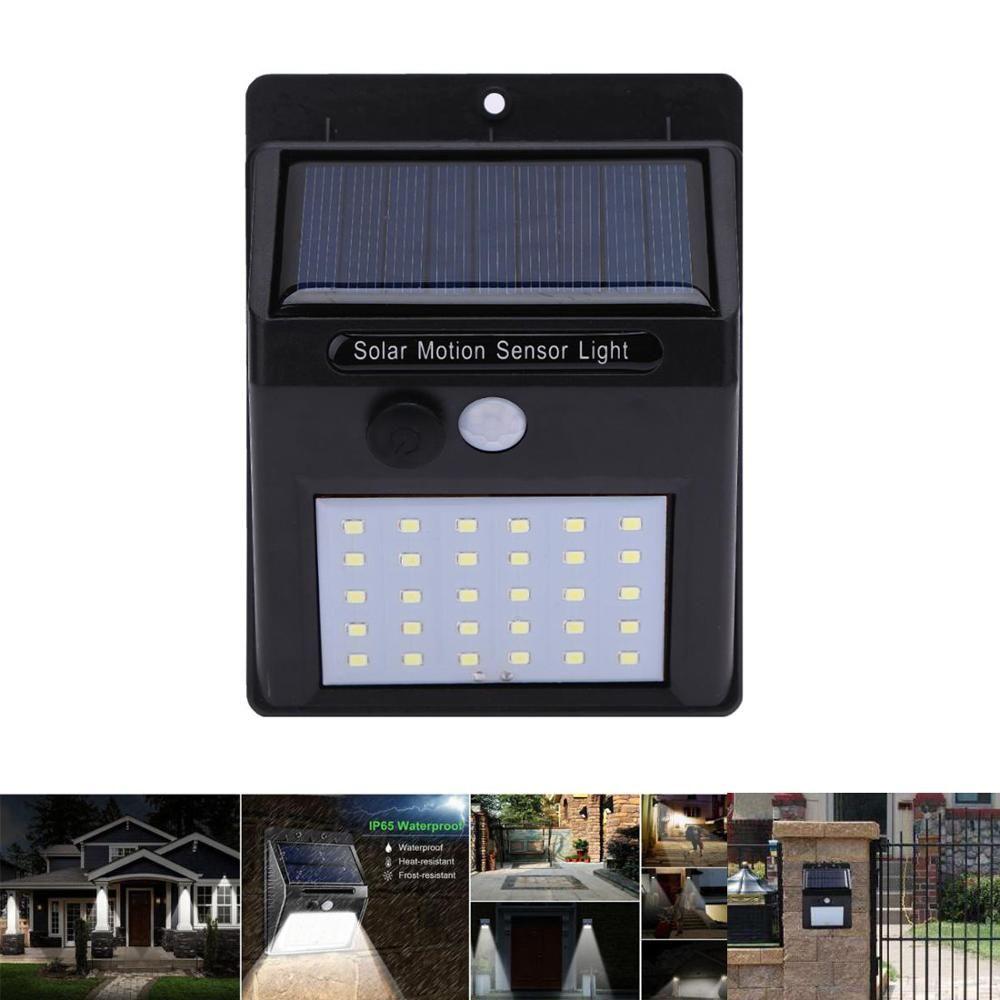 20/30 LED lumière solaire PIR capteur de mouvement étanche à l'extérieur économie d'énergie rue cour chemin solaire jardin lumière lampe 1-4 pièces