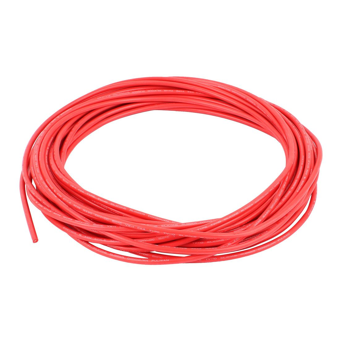 UXCELL 10M 32.8Ft 18Awg 10Kv Electric Copper Core Flexible Silicone Wire Cable Red
