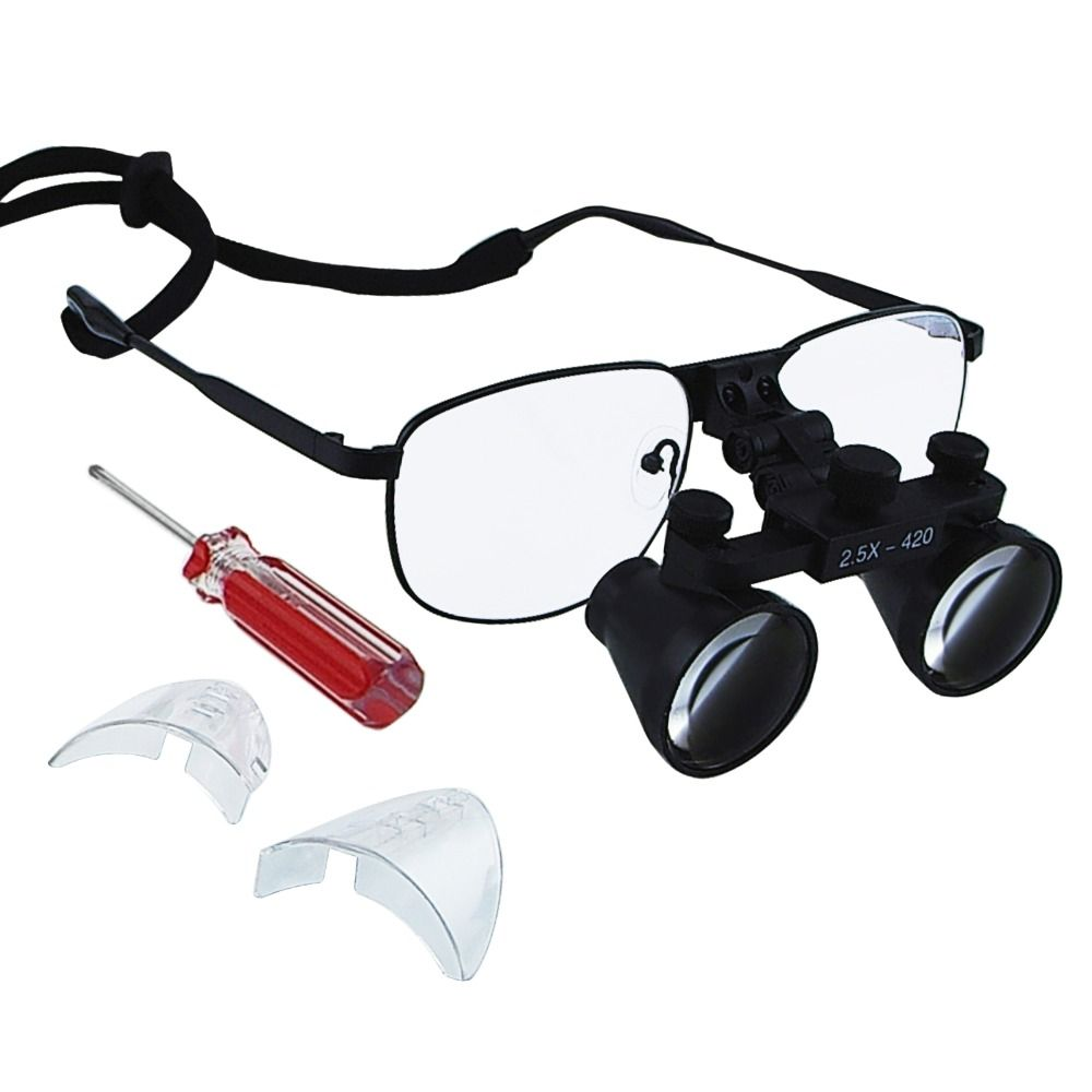 Galilean Keplerian Style Dental Loupes 3.5x 6.0x 2.5x Magnification Power Surgical Optical Dentistry Coated Lens Titanium Frame