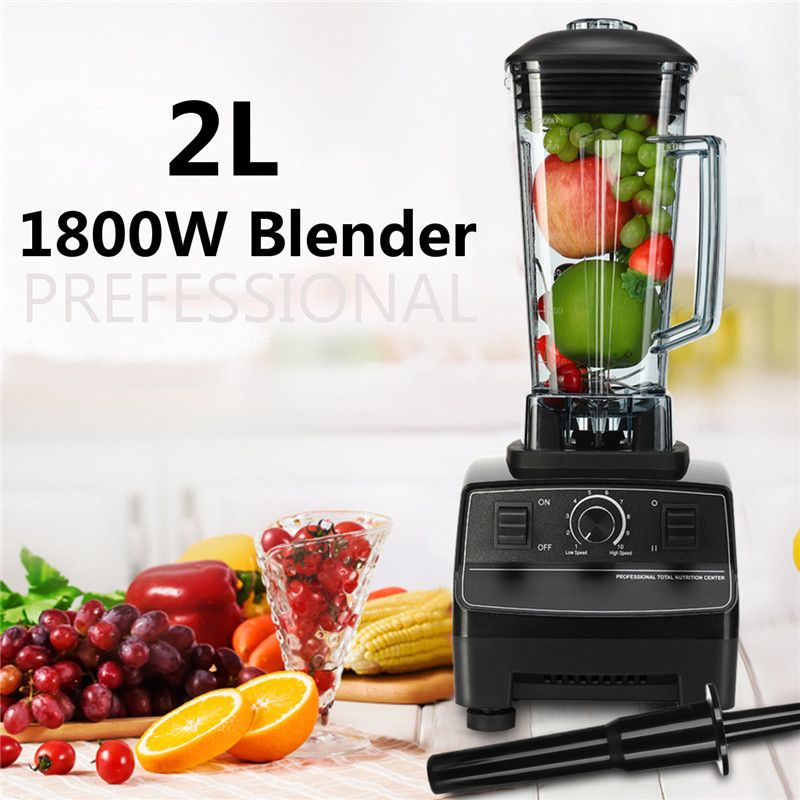 G5200 Mixer Blender EU/US/AU 6 Blades 1800W Rpm 36000-peak 2L Create Friction Heat Stainless Steel Blades Overcurrent Protection
