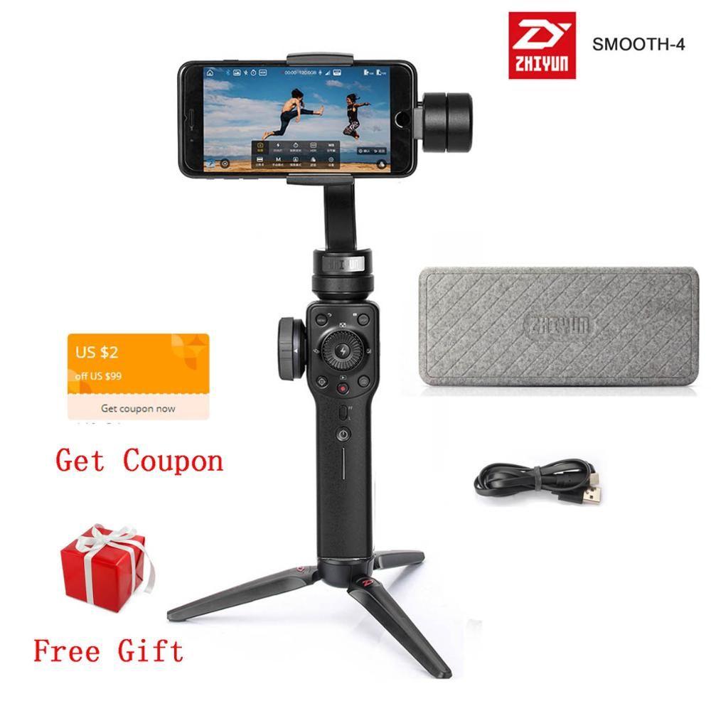 Zhiyun Glatte 4 GLATTE Q2 3-Achse Handheld Gimbal Stabilisator für Smartphone Action Kamera Telefon für iPhone X XR 8 Huawei P30