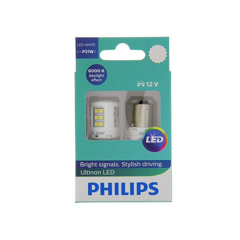 PHILIPS 11498ULWX2 P21W 12V-LED (BA15s) 6000K 2,0 W Weiß Ultinon LED (k. pack. 2 stücke) 55755