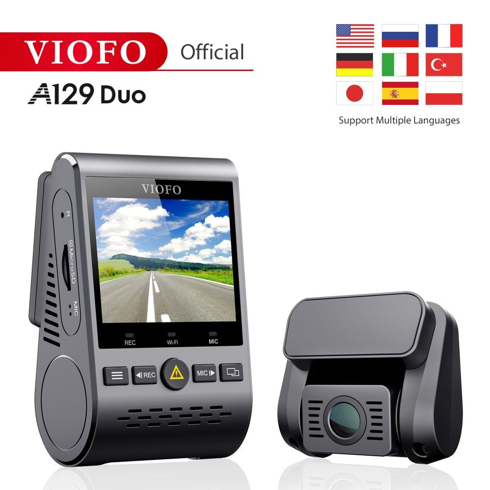 Original Viofo A129Duo Dual Kanal Wi-Fi Volle HD 1080P DVR Dash Cam Kamera Video Recorder View Sensor IMX291 mehrere sprachen