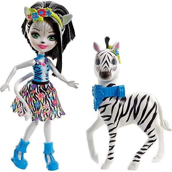 Puppe Enchantimals 'S big зверюшками Зелена Zebra und Хуфит MTpromo