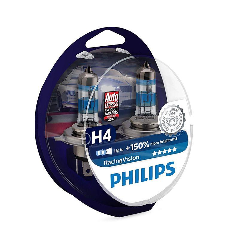 PHILIPS 12342RVS2 H4 12 V-60/55 W (P43t) (+ 150% licht) racing Vision (2 stücke) 52333