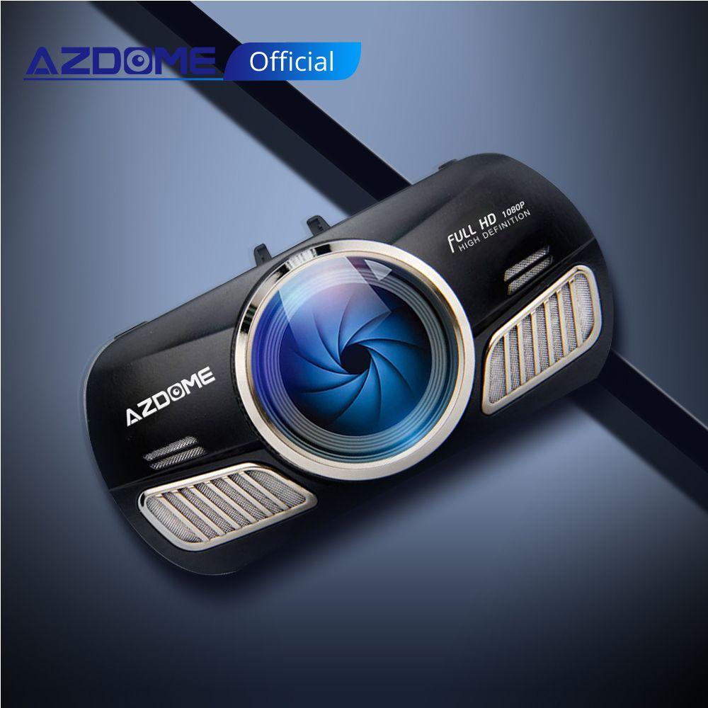 AZDOME M11 Mini 3 pouces 2.5D IPS écran caméra de tableau de bord HD1080P caméra de voiture DVR double lentille Vision nocturne 24H moniteur de stationnement Dashcam