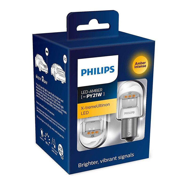 Philips LED warnung licht für auto X-tremeultinon 11498 PY21W freiheit lichter lesen lampe kleine lampe