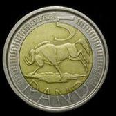 ★ 福閣收藏 ★ 南非 錢幣 km281 2004年 5 Rand