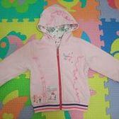 低價出清~~品牌童裝專櫃正品~~櫻桃貝貝粉紅色連帽外套/衛衣  厚款