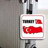 【國旗商品創意館】土耳其國旗領土旅行箱貼紙/抗UV防水/Turkey/多國款可收集和客製