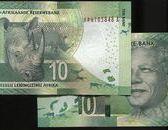 South Africa ( 南非動物紙幣), P138 , 10 RAND , ND(2013) 曼德拉 ,品相全新UNC