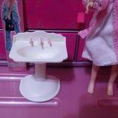 【洋娃娃系列】早期二手瑕疵*1996mattel美泰兒-白色洗手台*傢俱玩具