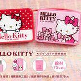 公司貨 GARMMA Hello Kitty Micro USB 凱蒂貓 伸縮式 充電 傳輸線 熱插拔 可同步傳輸與充電