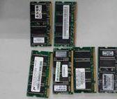 二手筆記型電腦記憶體不知好壞當廢品賣 128M$30 ,256$35
