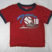 ☆U. S. Pooth☆ 美國品牌 童裝㊣二手 Children's Place 24個月 紅色棒球短袖上衣[a12]