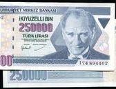 TURKEY(土耳其紙幣),P211,250000-L,1970,品相全新UNC