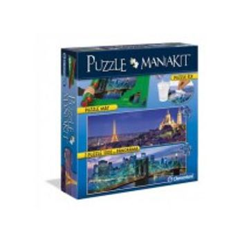 Παζλ Παρίσι Γέφυρα Brooklyn Mania Kit Ρολο Κολλα & 2 Παζλ (1000 Κομμάτια)