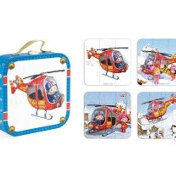 Σετ Ξύλινα Παλζ Το Ελικόπτερο του Peter Janod (6-9-12-16 Κομμάτια)