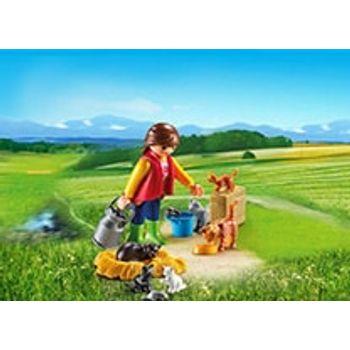 PLAYMOBIL 6139 Αγρότισσα και Γατάκια