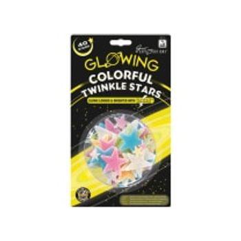 Αυτοκόλλητα Χρωματιστά Αστεράκια Twinkle (40 Τεμάχια)