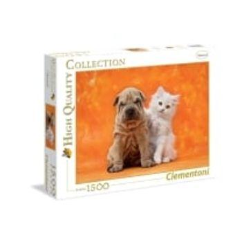 Παζλ Γάτα και Σκύλος HQ Collection (1500 Κομμάτια)