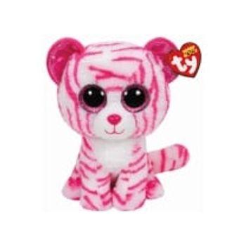 Λούτρινο Τίγρης Λευκή/Ροζ 40cm TY Beanie Boos