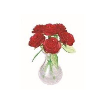 3D Παζλ Τριαντάφυλλα σε Βάζο