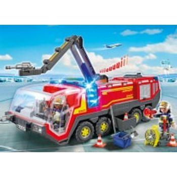 PLAYMOBIL 5337 Πυροσβεστικό Όχημα Αεροδρομίου με Φώτα Ήχο