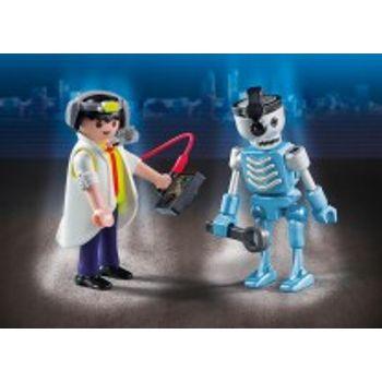 PLAYMOBIL 6844 Duo Pack Επιστήμονας και Ρομπότ