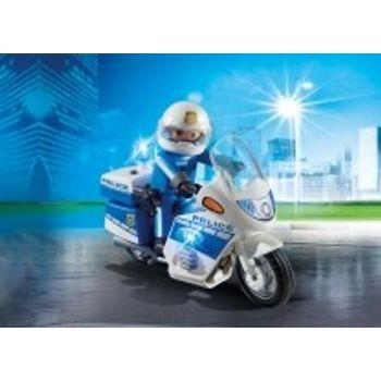 PLAYMOBIL 6923 Μοτοσικλέτα Αστυνομίας με φάρο που αναβοσβήνει