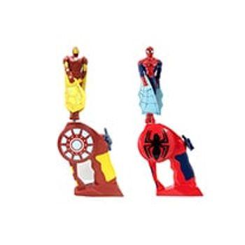 Μίνι Φιγούρα Spiderman/Flash Εκτοξευτής Flying Heroes Marvel (1 Τεμάχιo)