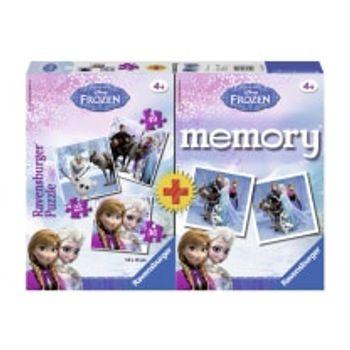 Παζλ και Memory Game Frozen (Σετ 3 Παζλ)