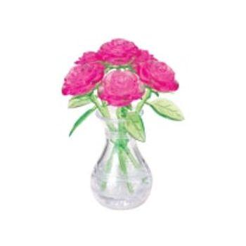 3D Παζλ Τριαντάφυλλα Μπουκέτο Ροζ