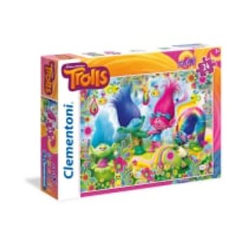 Παζλ Trolls Cupcakes and Rainbows Super Color Disney (24 Maxi Κομμάτια)