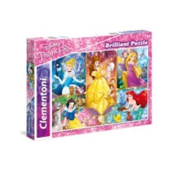 Παζλ Πριγκίπισσες Brilliant Super Color Disney (104 Κομμάτια)