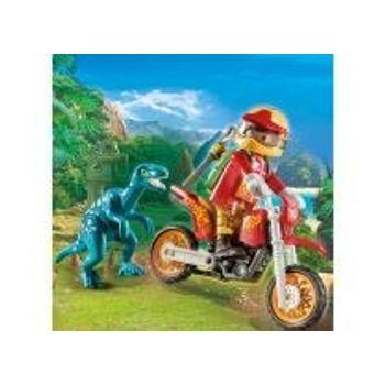 PLAYMOBIL 9431 Εξερευνητής με Motocross και Μικρό Δεινοσαυράκι